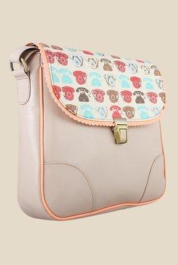 Zaera Beige Printed Sling Bag - Mp000000000625228