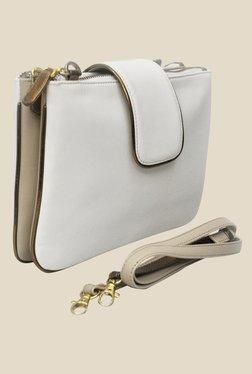 Zaera White Solid Sling Bag - Mp000000000625269
