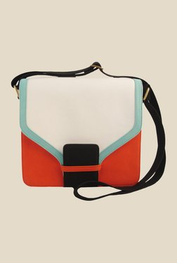 Zaera Orange Solid Sling Bag