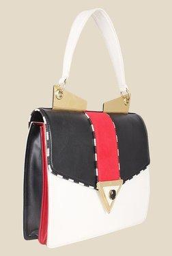 Zaera White Solid Satchel Bag