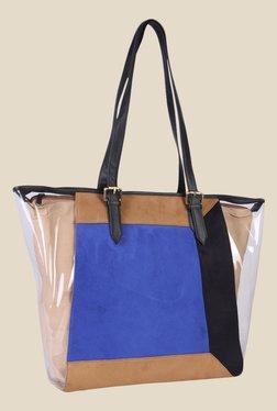 Zaera Blue Printed Tote Bag