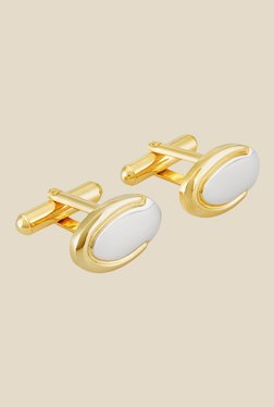 Park Avenue Golden Metal Solid Cufflinks
