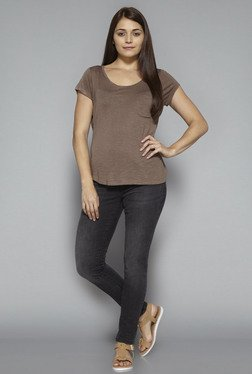 LOV by Westside Taupe Lia T Shirt