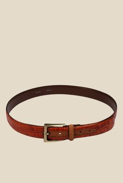 Raymond Brown Leather Textured Casual Belt