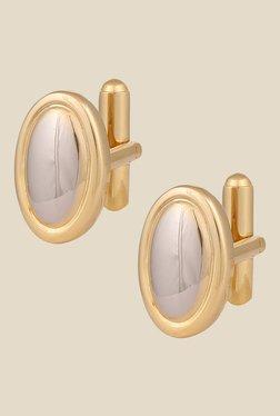 Park Avenue Golden Metal Solid Cufflinks - Mp000000000626096