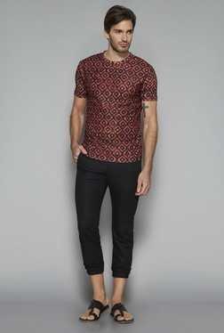 ETA By Westside Maroon Slim Fit T Shirt