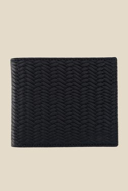 Park Avenue Black Textured Leather Wallet