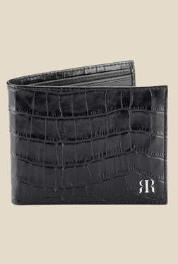 Raymond Black Textured Leather Wallet