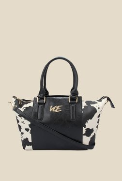 ViE Black Textured Tote Bag