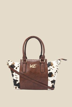 ViE Brown Textured Tote Bag