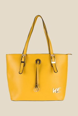 ViE Yellow Solid Tote Bag