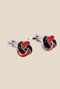 The Bro Code Black & Red Solid Cufflinks