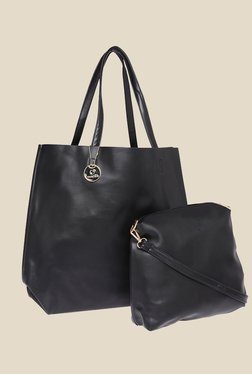 Fur Jaden Black Solid Tote Bag