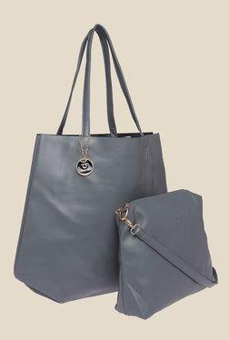 Fur Jaden Grey Solid Tote Bag