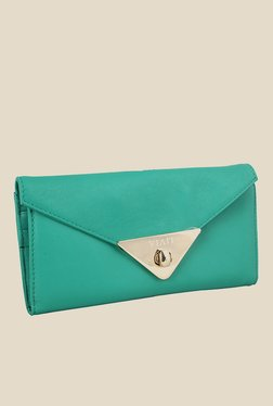 Viari Cannes Emerald Green Leather Wallet