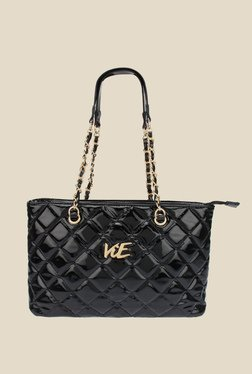 ViE Black Textured Shoulder Bag