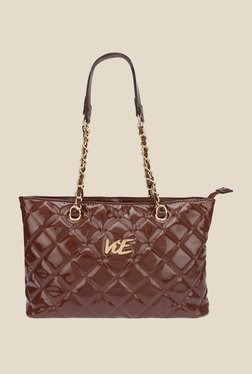 ViE Brown Textured Shoulder Bag