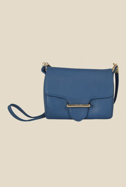 Viari Cannes Royal Blue Leather Sling Bag