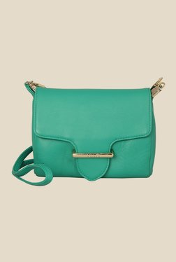 Viari Cannes Emerald Green Leather Sling Bag