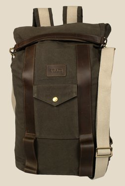 Viari Outback Green Canvas Monsoon Backpack
