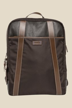 Viari Lombardy Brown Polyester Duke Backpack