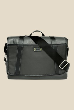 Viari Lombardy Grey Nylon Messenger Bag