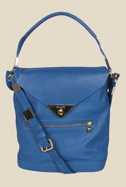 Viari Cannes Royal Blue Leather Sling Bag