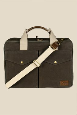 Viari Outback Olive Green Canvas Messenger Bag