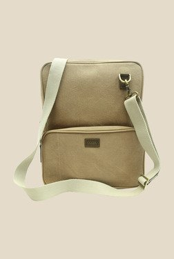 Viari Outback Dark Khaki Canvas Sling Bag