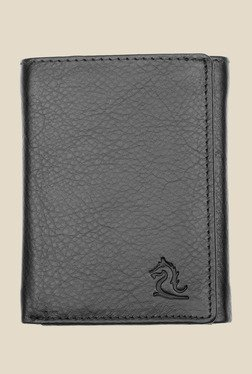 Kara Black Leather Wallet