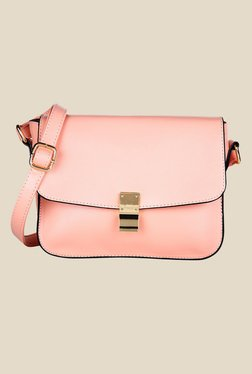 Lino Perros Pink Solid Leather Sling Bag