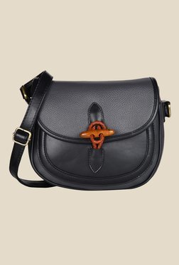 Lino Perros Grey Textured Leather Sling Bag