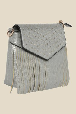 Fur Jaden Silver Textured Sling Bag - Mp000000000628471