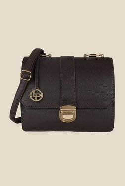 Lino Perros Brown Textured Leather Sling Bag - Mp000000000628483