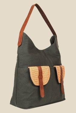 109 F Green Solid Shoulder Bag