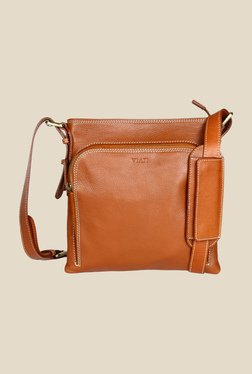 Viari El Paso Tan Leather Sling Bag