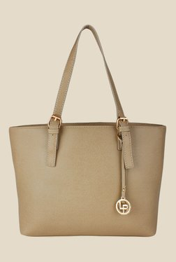 Lino Perros Beige Leather Tote Bag