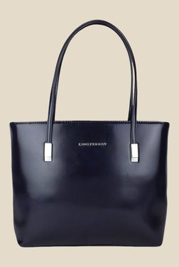 Lino Perros Blue Leather Tote Bag