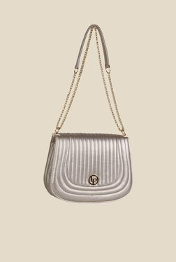 Lino Perros Silver Textured Sling Bag