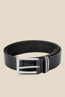 Parx Black Nylon Solid Casual Belt