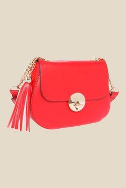 Fur Jaden Red Solid Sling Bag - Mp000000000628934