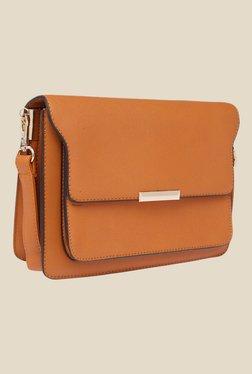 Fur Jaden Tan Solid Sling Bag