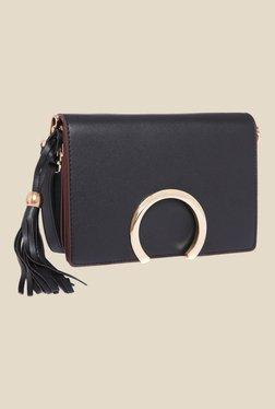 Fur Jaden Black Solid Sling Bag - Mp000000000628969