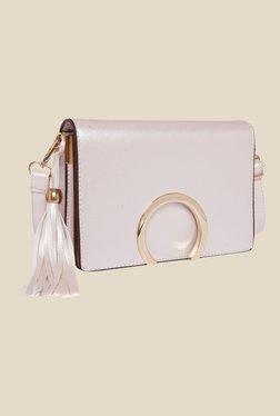 Fur Jaden White Solid Sling Bag
