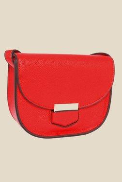 Fur Jaden Red Textured Sling Bag
