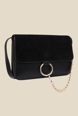 Fur Jaden Black Solid Sling Bag - Mp000000000628995