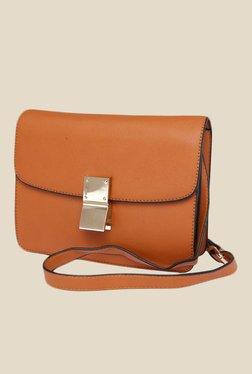 Fur Jaden Tan Solid Sling Bag - Mp000000000628996