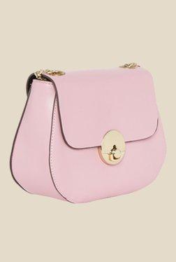 Fur Jaden Pink Solid Sling Bag