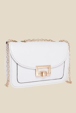 Fur Jaden White Solid Sling Bag - Mp000000000629009