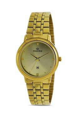 Maxima 07137CMGY Formal Gold Analog Watch for Men image